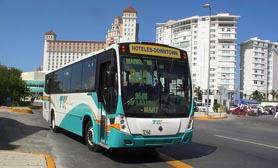 cancun public bus service